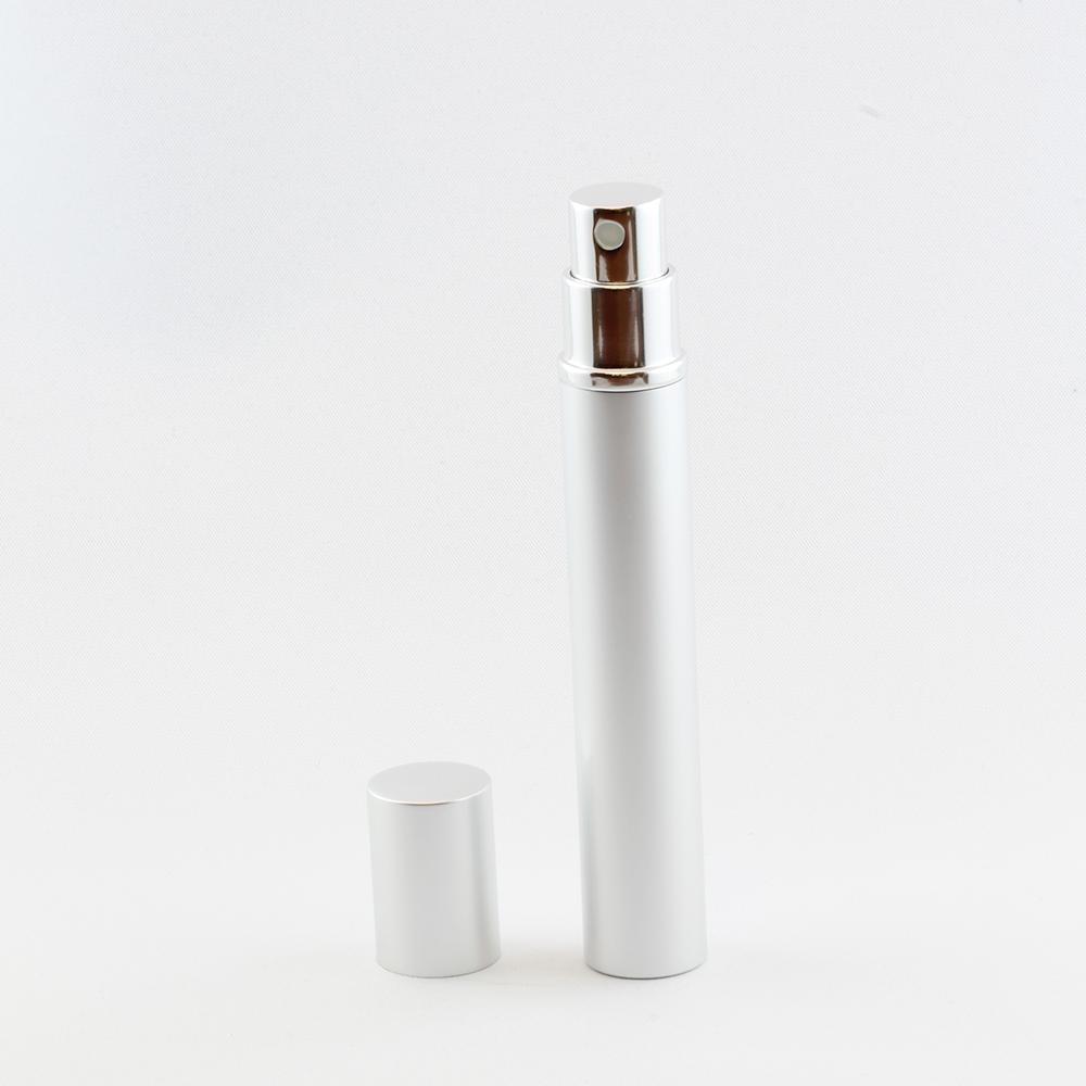 Taschenzerstäuber 12 ml silber leer
